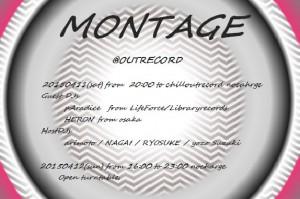 "2015.4.11(sat.)-12(sun.)""MONTAGE"""