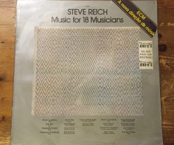 steve reich / music for 18 musicians LP