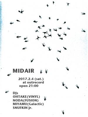 """2017.2.4(sat.) """"MID AIR"""""""